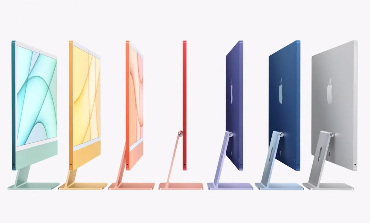 These are the iMac with Apple M1, an explosion of color ...